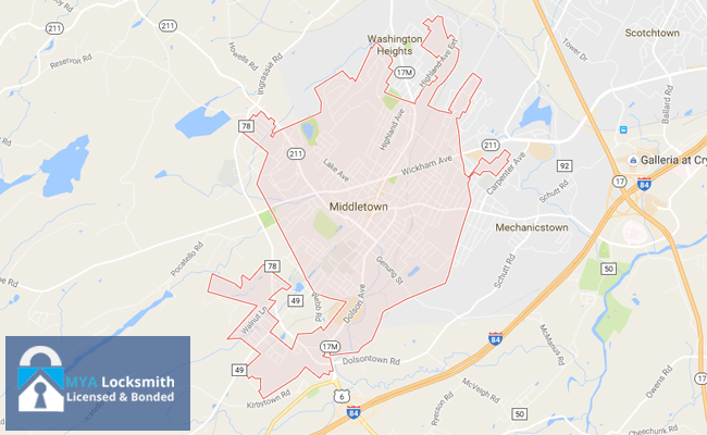 Locksmith Middletown NY